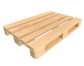 3D wood euro pallet