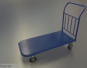 3D asset low-poly Pushcart