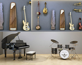 group Musical Instruments 3D