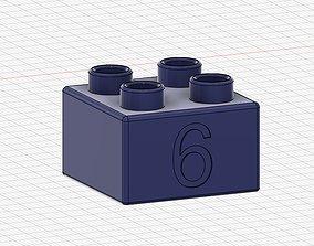 3D print model Lego Duplo compatible 2x2 6
