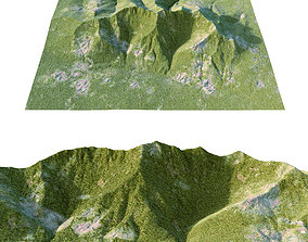 3D model mountains