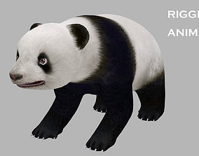 3D model animated panda