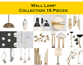 3D model Wall Lamp Collection 15 Pieces