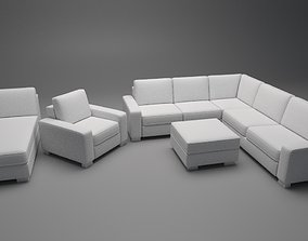 Sofa Assembly Kit Low-poly 3D model low-poly