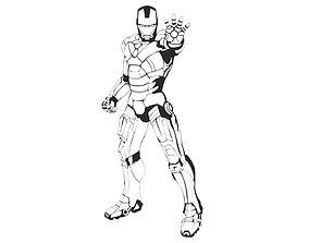 Iron man wall decor printable