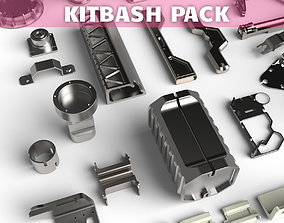 3D model Kitbash library technical part pack