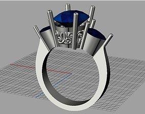 3D print model Oval- pear diamond ring