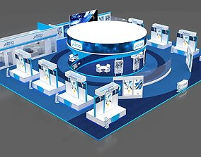 Exhibition Booth 3D model stall model