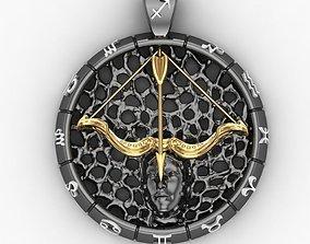 3D print model Pendant Zodiac sign Sagittarius