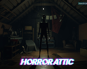 3D model Low-Poly Horror Attic Pack