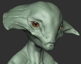 3D model Alien Head 01