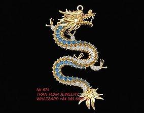 3D print model 674 Dragon Pendant