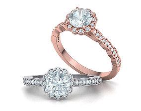 Vintage Halo Engagement Ring 1ct Stone printable