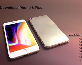 iPhone 8 Plus - original dimensions 3D model cell-phone