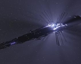 3D model Scifi Alien Ship