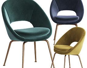 3D model Orb Velvet Dining Chair Westelm