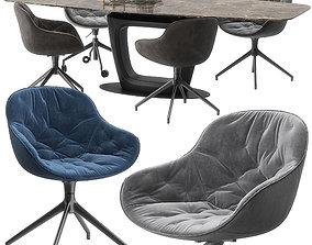 Calligaris Igloo soft chair orbital table set 3D model