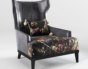 3D armchair - PN-302 - The Black Attitude - by Momenti