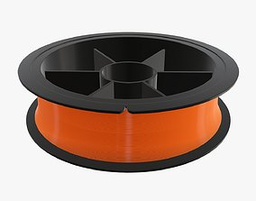 Fishing line with single spool 02 3D model