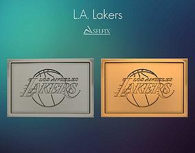 3D print model Los Angeles Lakers logo relief