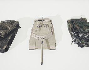 Collection Tanks DM Abrams US 3D model low-poly