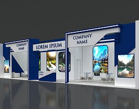 Booth Exhibition Stand Stall 16x4m Height 400 3D model 3