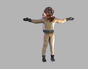 3D Retro diver