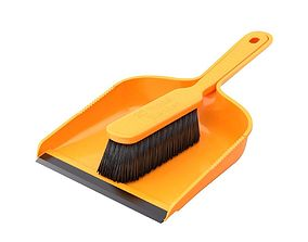 Dustpan with the Brush 3D model