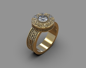 ring with a prayer to the Virgin Mary 3D print model