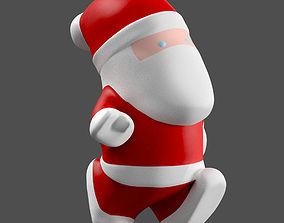 Little Cartoon Santa 3D model