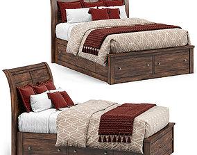 bed Arthur Storage Bed Chestnut 3D