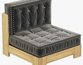 RH Teen Callum Armless Chair 3D model