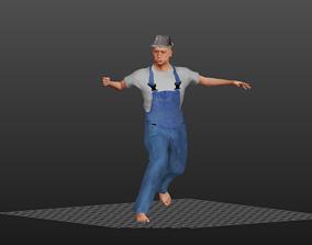 Old Worker 3D asset
