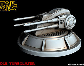 3D rigged Star Wars Middle Turbolaser