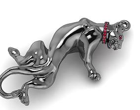 3D print model pendant-necklace Panther pendant