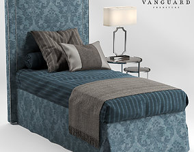 3D model VANGUARD Furniture HILLARY single bed