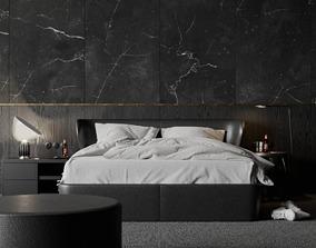 Black Bedroom 3D model