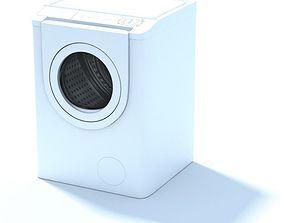 Retro White Household Washing Machine 3D model