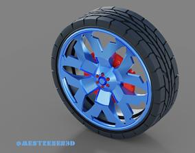 Wheels - Tires 3D model