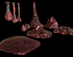 Horror Prop - Cocoon stench animation models 3D asset