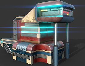 Fantasy SCI-FI Building - PBR Game-Ready 3D model