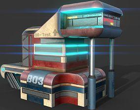 Fantasy SCI-FI Building - PBR Game-Ready 3D asset