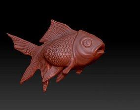Goldfish marine statue 3D printable model