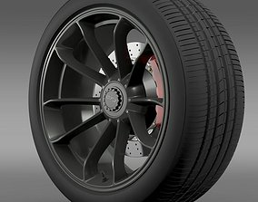 Porsche 911 GT3 2014 wheel 3D model