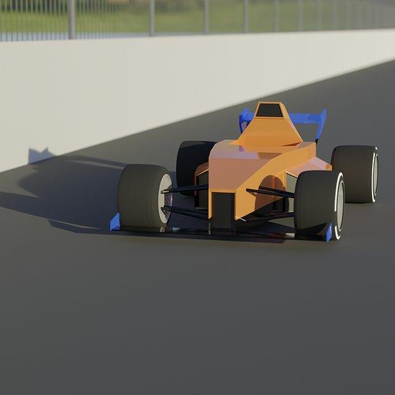 Low Poly Formula 1 Car