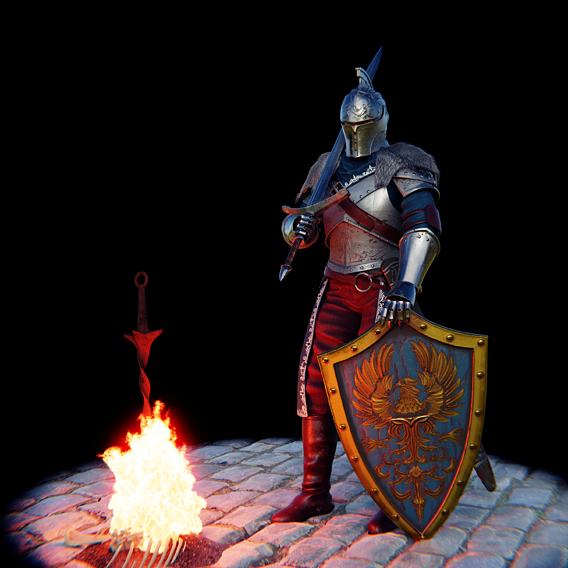 Faraam Knight armor from Dark Souls