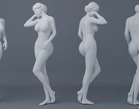 Fullness woman wearing swimsuit 004 3D printable model