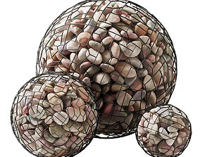 Gabion sphere pebble n5 3D model