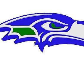 3D model SeaHawks Streamline logo not NFL