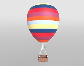 Hot Air Balloon v1 002 3D asset
